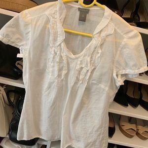 Ann Taylor 10P lightweight blouse with ruffles